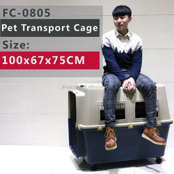 large aminal Air Travel Carrier Crate, dark blue, five sizes to opertional