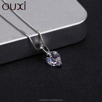 heart shaped pendant ,CZ nekclace , women accessories wholesale Y30080
