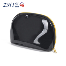Custom lady mini elegant bling pvc cosmetic bag clutch bag with golden zipper closure for christmas evening party