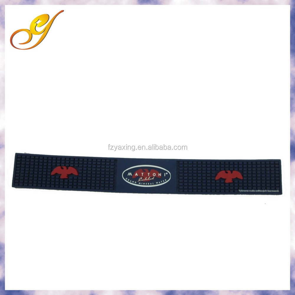 Custom Print Logo Rubber Felt Bar Spill Mat Buy Rubber
