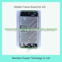 mobile phone parts green for iphone 4 middle frame paypal is accepted
