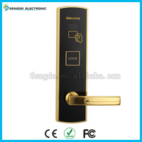 European door handle stainless steel RFID hotel card key lock system