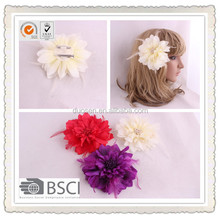 Wholesale fabric flower hair clips brooch,make fabric flower hair clips
