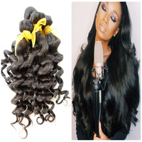 7a raw human hair best feedback natural color can be dyed hair well intalled Eurasian loose deep wave virgin hair