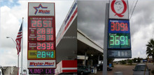 Digital number display control system card\led gas price sign for gas station