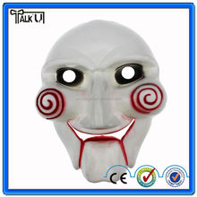 High quality classic movie scary fully white face saw party mask