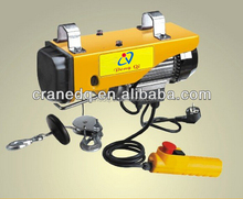 PA1000 500kg 1000kg Electrical Winch Electric Wire Rope Sling Mini Hoist With Trolley