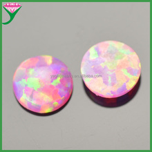 Wholesale price synthetic pink amethyst round cabochon loose opal gemstones