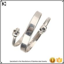 cheap wholesale wrap stainless steel skull bracelet