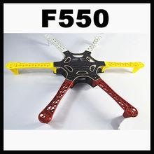 F550 Hexa-Rotor Frame FlameWheel Kit As DJI For KK quadcopter kit MultiCopter Hexacopter White+Red+Yellow