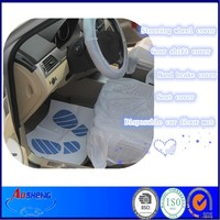 Plastic Seat cover ,steering wheel cover and foot mat