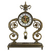 European Style Antique Metal Table Clock,Decorative Clock