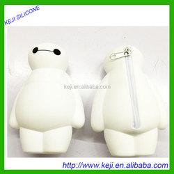 Lovely warm male cartoon zero purse silica gel to receive package
