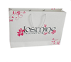 2015 fashion paper straw tote bag/ paper bag with a black logo/ bakery paper bag