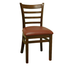promotion used dark brown dining room chair