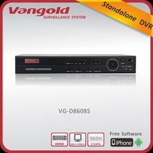 H.264 960H dvr Resolution 960H support Alarm/PTZ/HDMI
