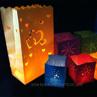 New design luminary candle bag for new year decoration