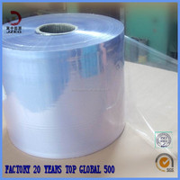 clear blue color pvc shrink film for packing