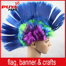 2018 Russia popular PET synthetic custom mohawk fans wig /party mohawk wig for decorative