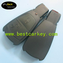 Old model 2 buttons remote key shell without logo key for mercedes benz mercedes key shell