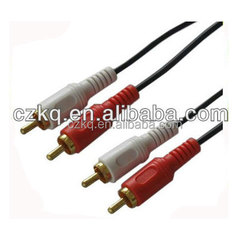 hot sale 5 pole 3.5mm plug to 3 rca cable 3.5mm male stereo jack to 3 female rca plugs cable multiple rca connector
