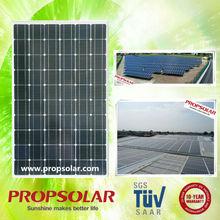 Propsolar TUV, ISO, CE certificated best price solar panel a grade mono