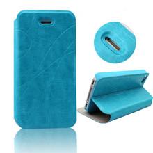 soporte de cuero flip funda de cuero para el iphone 4