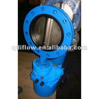 cast iron flanged electric butterfly valve