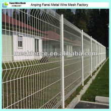 PVC powder spraying coated cheap yard fencing 3D fold wire mesh fence(2014 new products)