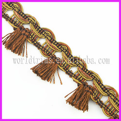 World trims wholesale cord area rugs fringe WTA204