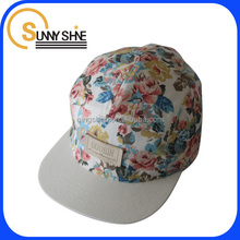 SUNNY SHINE 5-panel cheap soft 3D embroidery cute snapback caps