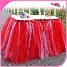 New arrival wholesale kids party supplies in China, ruffled tutu table skirt for festivals, new year and kids birthday party