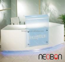 Creative Stylish hotel reception Counter Table/ Cheap reception desk