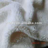 100% Polyester White Fake Sherpa Fleece Fabric
