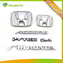 Automobiles & Motorcycles Nameplate Type Eco-friendly Nickel Free OEM Fadeless Hard Plastic H Chrome Car Emblem With Pin