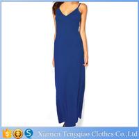 Spaghetti Strap V-neck Backless Sleeveless Women Summer Style Dress