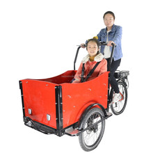 hot sale high quality cheap three wheel two seat electric cargo tricycle bike