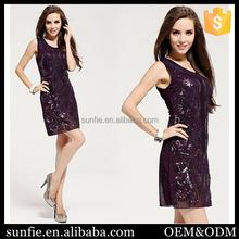 wholesale alibaba girl sexy Round Neck Sleeveless Black dress image xxx xxx
