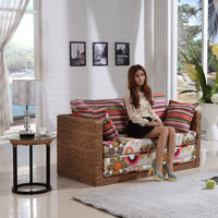 China High Quality Wicker Rattan Folding Chair Flip Sofa Bed