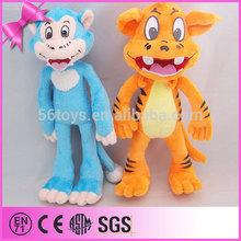 venta al por mayor de china de la selva de los animales de peluche de juguete de peluche de tigre de juguete