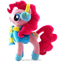 2015 newest design plush toy lovely cute my little pony,wearing clothes my little pony