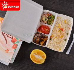 Disposable food compartment clam shell container