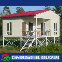 big durable prefabricated floating wooden house