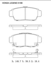 For HONDA Accord 6 Civic Brake Pad 45022-S7A-N00 D5100M D5113M A-613W A-668WK D1276 D787 D959 23729