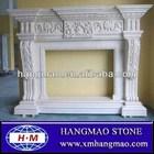 lareira em mármore branco