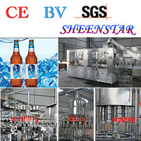 running stability automatic glass bottle filling machine manufacturer