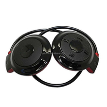 Protable cordless bluetooth wireless Hi-fi bass sport earhook headphone foldable headband headset with mic