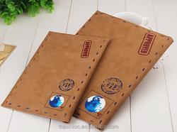 Hot for iPad mini retro style pu leather cover case leather skin