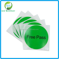 Cheap price round QC pass sticker, adhesive paper label printing