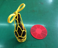 Dual functional silicone wine tote wine bag